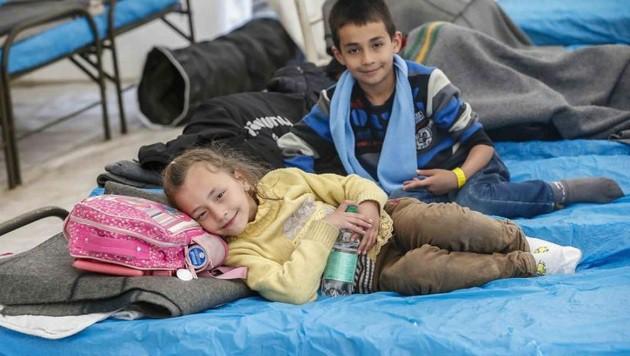 Kinder an der Grenze in Freilassing, die wahren Opfer (Bild: Markus Tschepp)