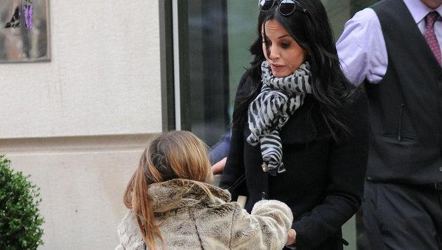 Courteney Cox mit Tochter Coco im Jahr 2012 (Bild: Viennareport)