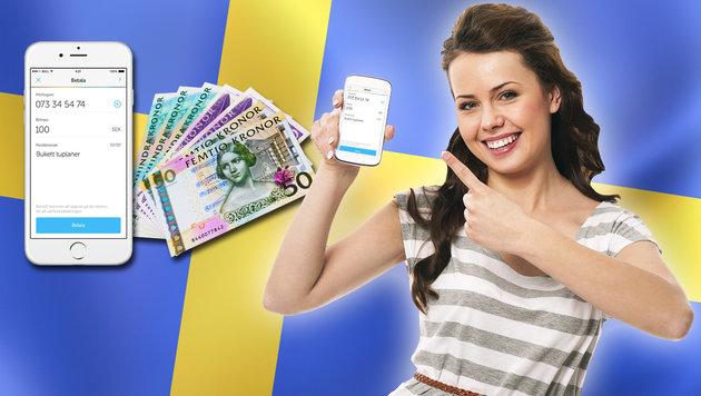 Schweden könnte erstes Land ohne Bargeld werden (Bild: getswish.se, thinkstockphotos.de)