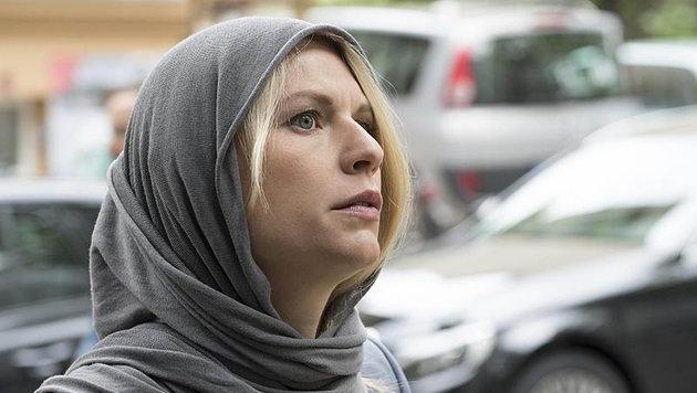 """Hauptdarstellerin Claire Danes in einer Szene aus """"Homeland"""" (Bild: Viennareport)"""
