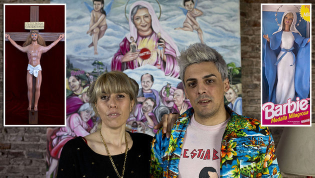 Das Künstlerpaar Marianela Perelli und Emiliano Paolini wird unter anderem diese Figuren ausstellen. (Bild: APA/AFP/HECTOR RIO)