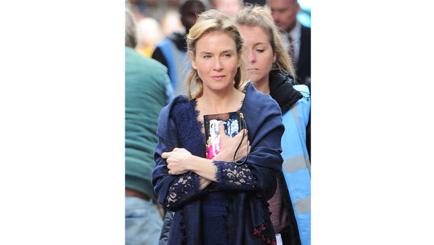 Renee Zellweger als Bridget Jones beim Dreh in London (Bild: Viennareport)