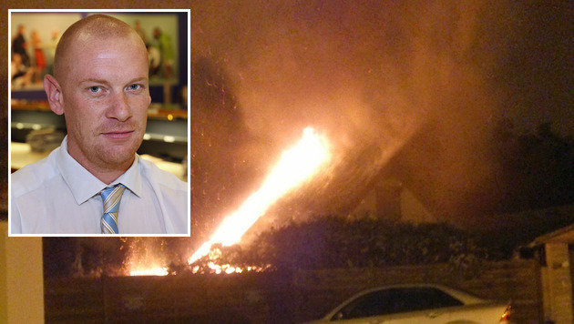 """Christoph Wurzenberger bemerkte den Brand und alarmierte die Einsatzkräfte. (Bild: Zwefo, """"Krone"""")"""