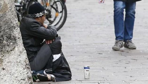 Bettler-Szene in Salzburg: Es kommt zu sozialen Konflikten. (Bild: Markus Tschepp)