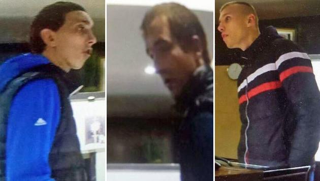 Die Bilder aus den Überwachungskameras zeigen drei der Verdächtigen. (Bild: LPD Kärnten)