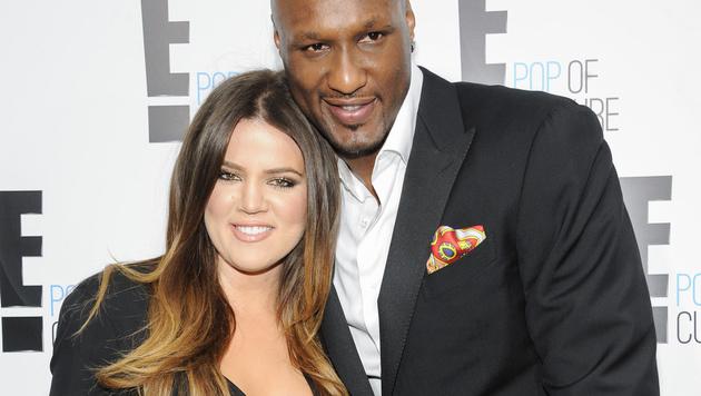 Khloe Kardashian und Lamar Odom (Bild: AP)