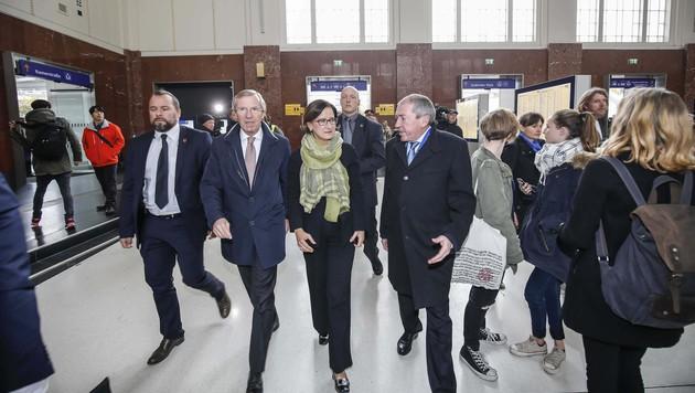 Landeshauptmann Haslauer, Innenministerin Mikl-Leitner und Bürgermeister Schaden (v.r.n.l.) (Bild: MARKUS TSCHEPP)