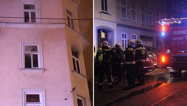 "Bei den Löscharbeiten entdeckten Feuerwehrmänner den Toten. (Bild: ""Krone""-Leserreporter Manfred Kammerer)"
