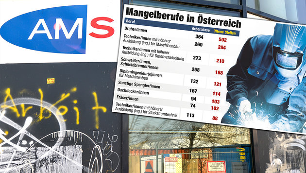 Mehr Arbeitslose trotz mehr Beschäftigter (Bild: APA/HERBERT NEUBAUER)