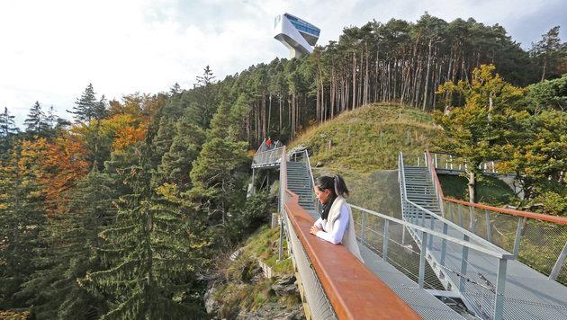 Die Aussichtsplattform am Bergisel (Bild: Christof Birbaumer)