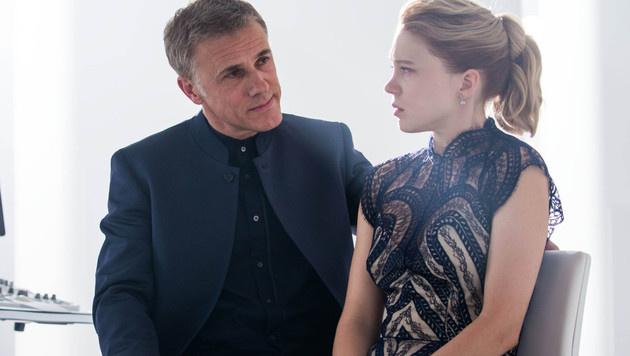 """Christoph Waltz und Lea Seydoux in """"Spectre"""" (Bild: Viennareport)"""