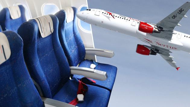 AUA verringern Sitzabstand auf Flügen in Europa (Bild: thinkstockphotos.de, APA/AUSTRIAN AIRLINES GROUP)