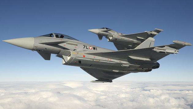 Eurofighter flogen Überschall-Einsatz über NÖ (Bild: BMLVS/Markus Zinner)