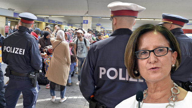 """""""Österreich braucht sofort 2000 Polizisten mehr!"""" (Bild: APA/HERBERT NEUBAUER)"""