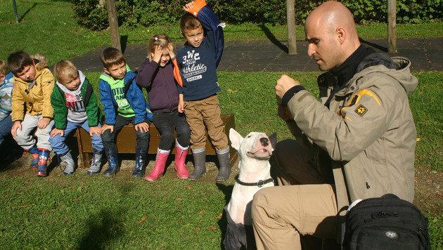 Sogar ängstliche Kinder fassen zum ruhigen Hund Vertrauen. (Bild: Claudia Fischer)