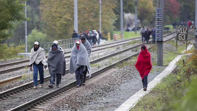 Chaos und Prügelei an unserer Grenze (Bild: APA/ERWIN SCHERIAU)