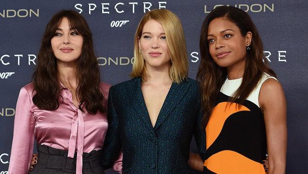 Monica Bellucci, Lea Seydoux, Naomi Harris (Bild: APA/EPA/FACUNDO ARRIZABALAGA)