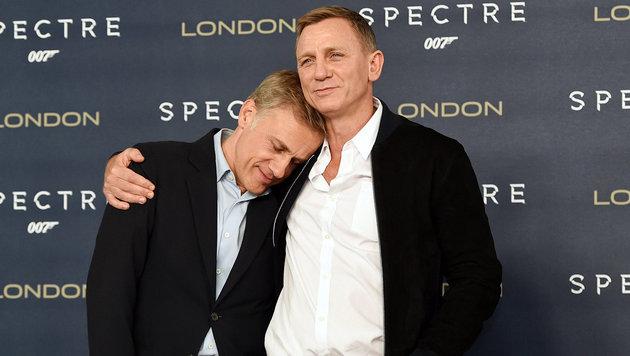 Christoph Waltz, Daniel Craig (Bild: APA/EPA/FACUNDO ARRIZABALAGA)