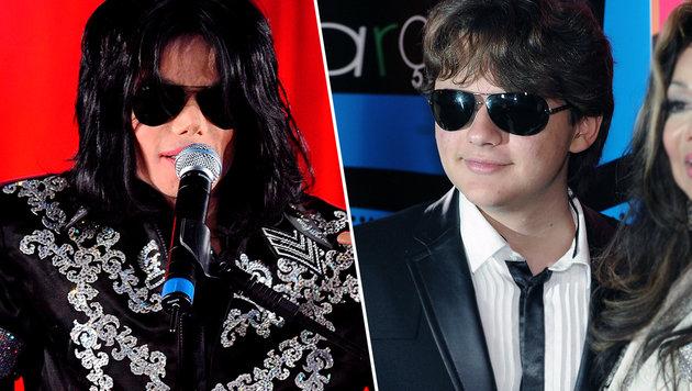 Michael Jackson (links) soll nicht der leibliche Vater von Prince Michael (rechts) sein. (Bild: APA/EPA/STR, APA/EPA/Henning Kaiser)