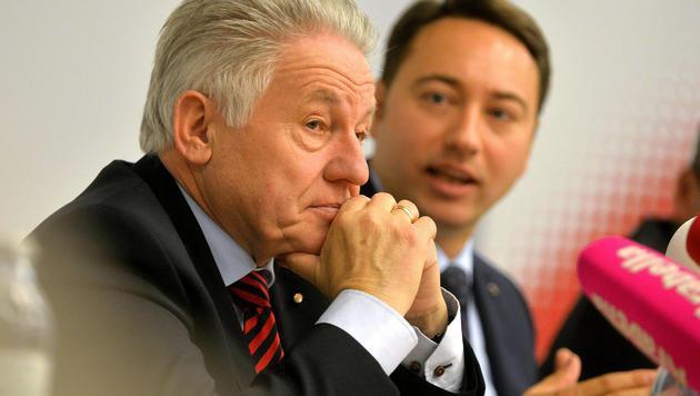 ÖVP-Chef Josef Pühringer und FPÖ-Chef Manfred Haimbuchner (Bild: APA/BARBARA GINDL)