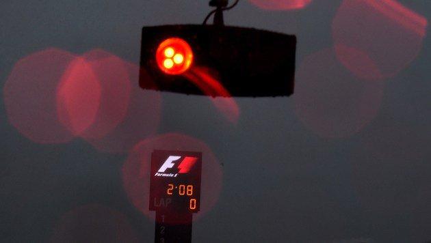 """Formel-1-Quali in Austin von Sintflut """"weggespült"""" (Bild: AFP)"""