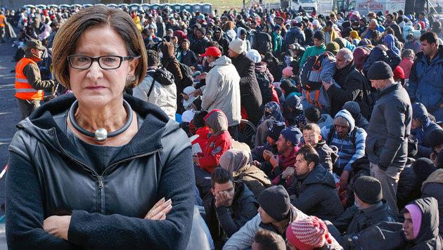 """Fl�chtlinge panisch, mit Gewalt ist zu rechnen"" (Bild: APA/EPA/JULIEN WARNAND, APA/EPA/GYORGY VARGA HUNGARY OUT)"