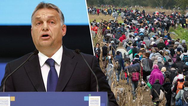 """Orban: """"Einmarsch einer Invasionsarmee"""" (Bild: APA/EPA/J.J. GUILLEN, AP)"""