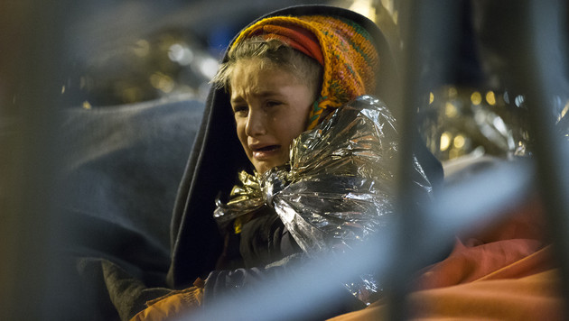 Flüchtlinge: Wilde Prügelszenen in Spielfeld (Bild: APA/ERWIN SCHERIAU)