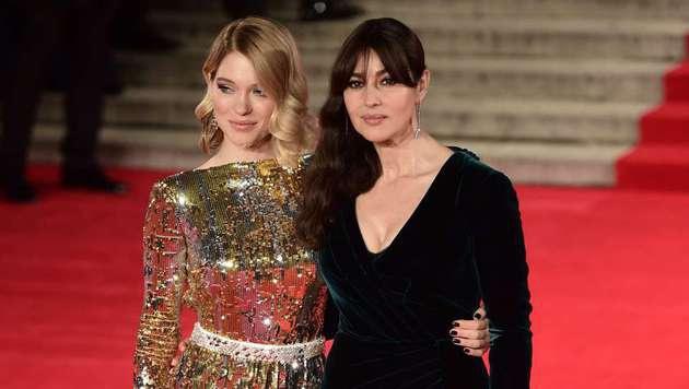 Die Bond-Girls Lea Seydoux und Monica Bellucci (Bild: AFP)