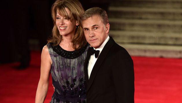 Christoph Waltz brachte seine Ehefrau Judith Holste mit nach London. (Bild: AFP)