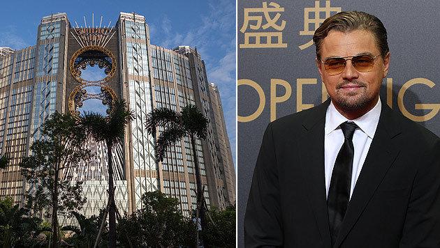 Leonardo DiCaprio bei der Eröffnung des neuen Mega-Casinos Macau Studio City. (Bild: APA/EPA/JEROME FAVRE, AP)