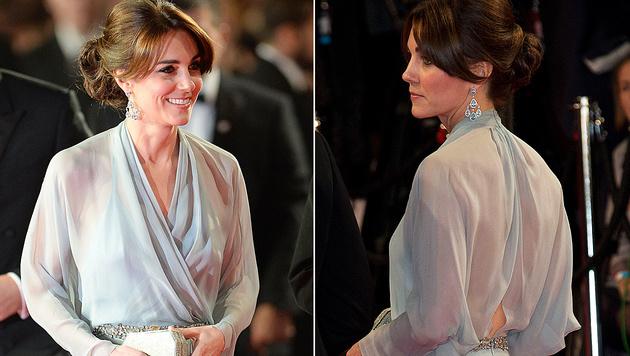 """Oh là là! Kate überraschte ohne BH bei der Weltpremiere von """"Spectre"""". (Bild: Viennareport)"""