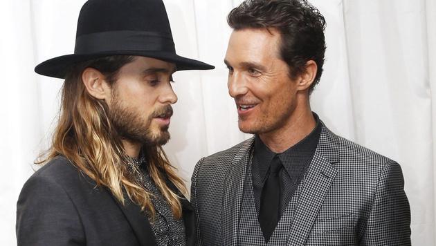 Jared Leto und Matthew McConaughey (Bild: APA/EPA/TAL COHEN)