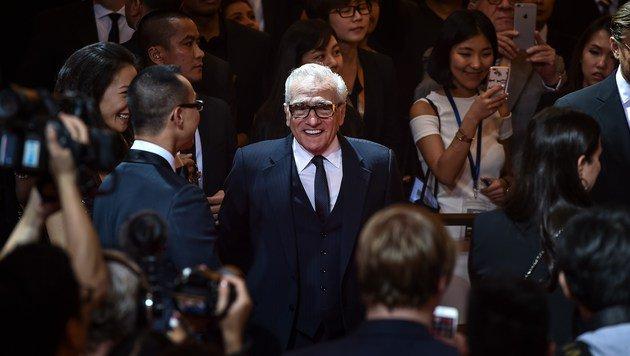Auch Martin Scorsese, der den Werbefilm beisteuerte, durfte bei der Casino-Eröffnung nicht fehlen. (Bild: APA/AFP/PHILIPPE LOPEZ)