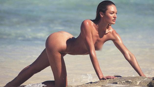 Candice Swanepoel nackt und nass (Bild: Viennareport)