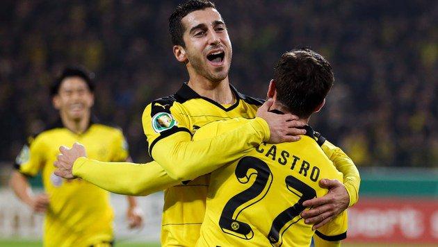 Dortmunder Jubel (Bild: APA/AFP/FRISO GENTSCH)