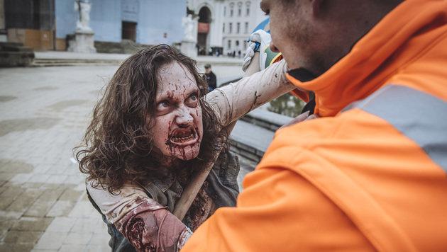"""""""Eine Million Klicks für """"The Wasting Dead"""" in Wien (Bild: VICE in Zusammenarbeit mit Rotkäppchen & Goliath)"""""""