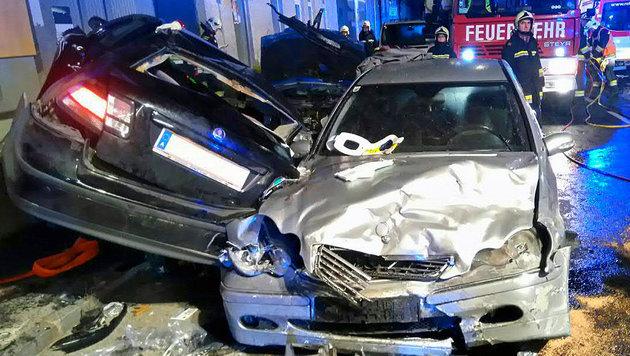 Geschwisterpaar bei Autounfall ums Leben gekommen (Bild: APA/EINSATZDOKU.AT/SCHULZ)