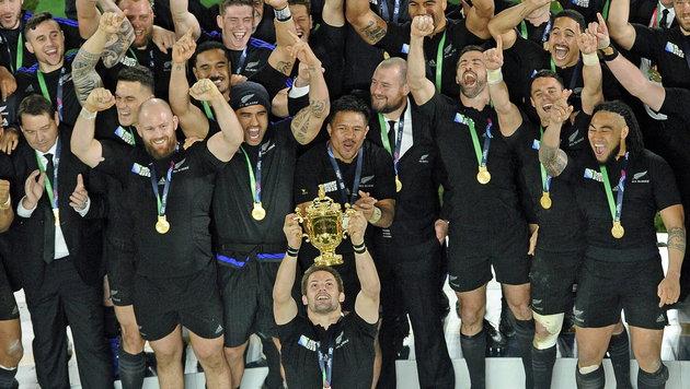 Neuseeland zum dritten Mal Rugby-Weltmeister (Bild: APA/EPA/GERRY PENNY)