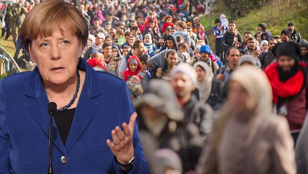 Merkels Flüchtlingspolitik ist auch in Frankreich ein Wahlkampfthema. (Bild: AFP, APA/AFP/Rene Gomolj)