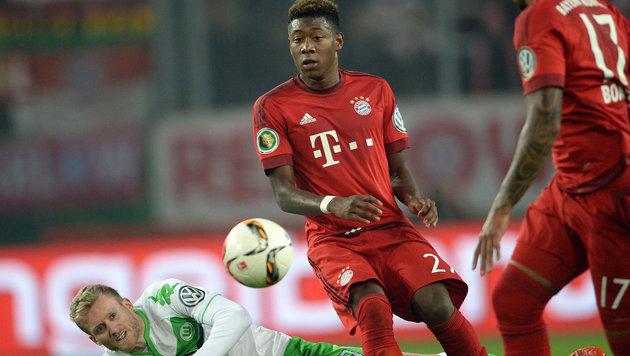 Alaba empfängt mit Bayern im DFB-Cup Garics (Bild: APA/dpa/Peter Steffen)