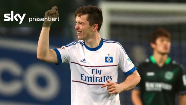 Gregoritsch-Tor, aber HSV verliert gegen Hannover (Bild: APA/EPA/AXEL HEIMKEN)
