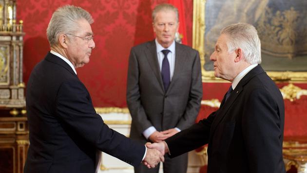 OÖ-Landeshauptmann Pühringer kündigt Rücktritt an (Bild: APA/GEORG HOCHMUTH)
