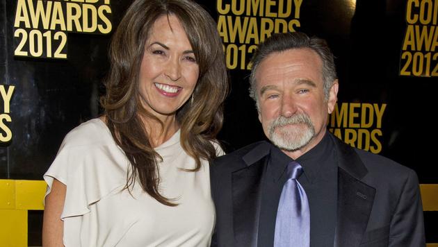 Robin Williams mit Ehefrau Susan Schneider (Bild: AP)