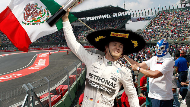 Rosberg siegt bei Mexiko-GP vor Hamilton! (Bild: APA/EPA/ULISES RUIZ BASURTO, AP)