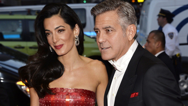 Amal und George Clooney (Bild: APA/EPA/JUSTIN LANE)
