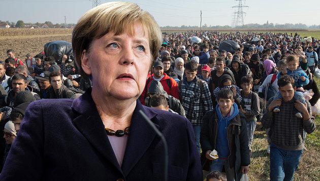 Merkel ger�t immer mehr in die Defensive. (Bild: AP, APA/EPA/GREGOR FISCHER)