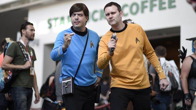 """""""Star Trek""""-Fans mit Fasern bei der """"Comic Con International 2015"""" in San Diego. (Bild: APA/AFP/ROBYN BECK)"""