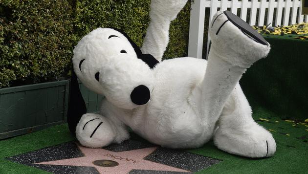 "Snoopy bei seinem Stern am ""Walk of Fame"" (Bild: APA/EPA/MIKE NELSON)"