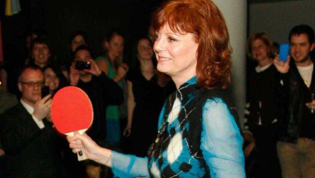 Susan Sarandon ist ein Pingpong-Ass. (Bild: Viennareport)